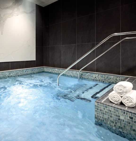 Indoor whirlpool at Life Time