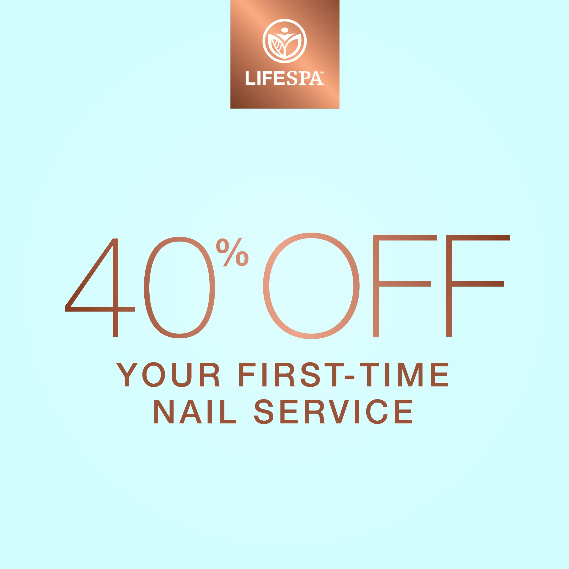 40% off your first-time nail service