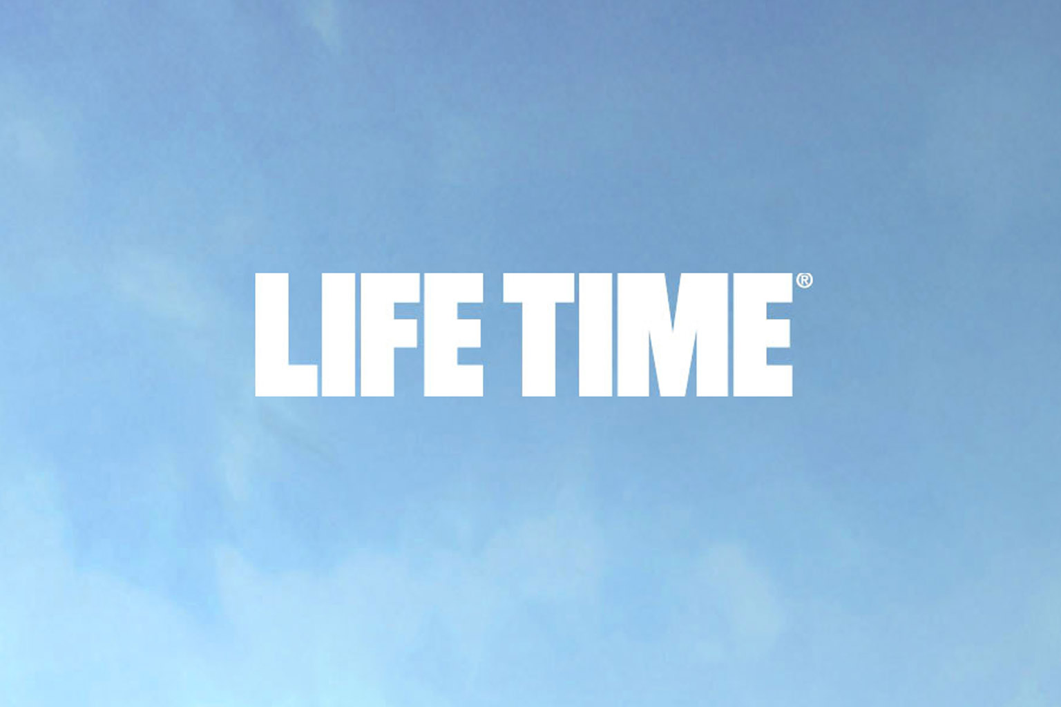 White Life Time master logo on a light blue background