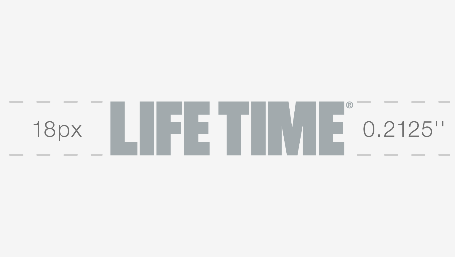 Silver Life Time master logo showing sizing rules