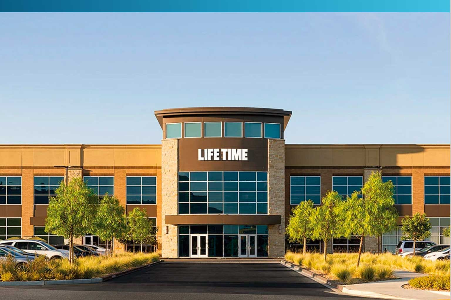 Exterior of a Life Time club