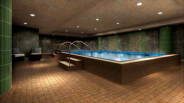 The whirlpool at Life Time Athletic Chestnut Hill