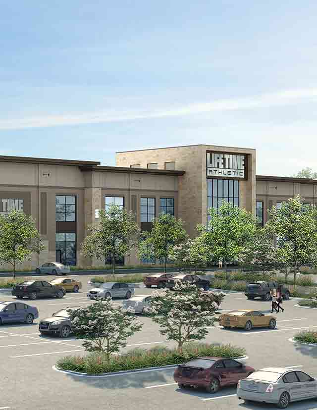 A rendering of the Life Time Athletic building coming to Frontenac, Missouri