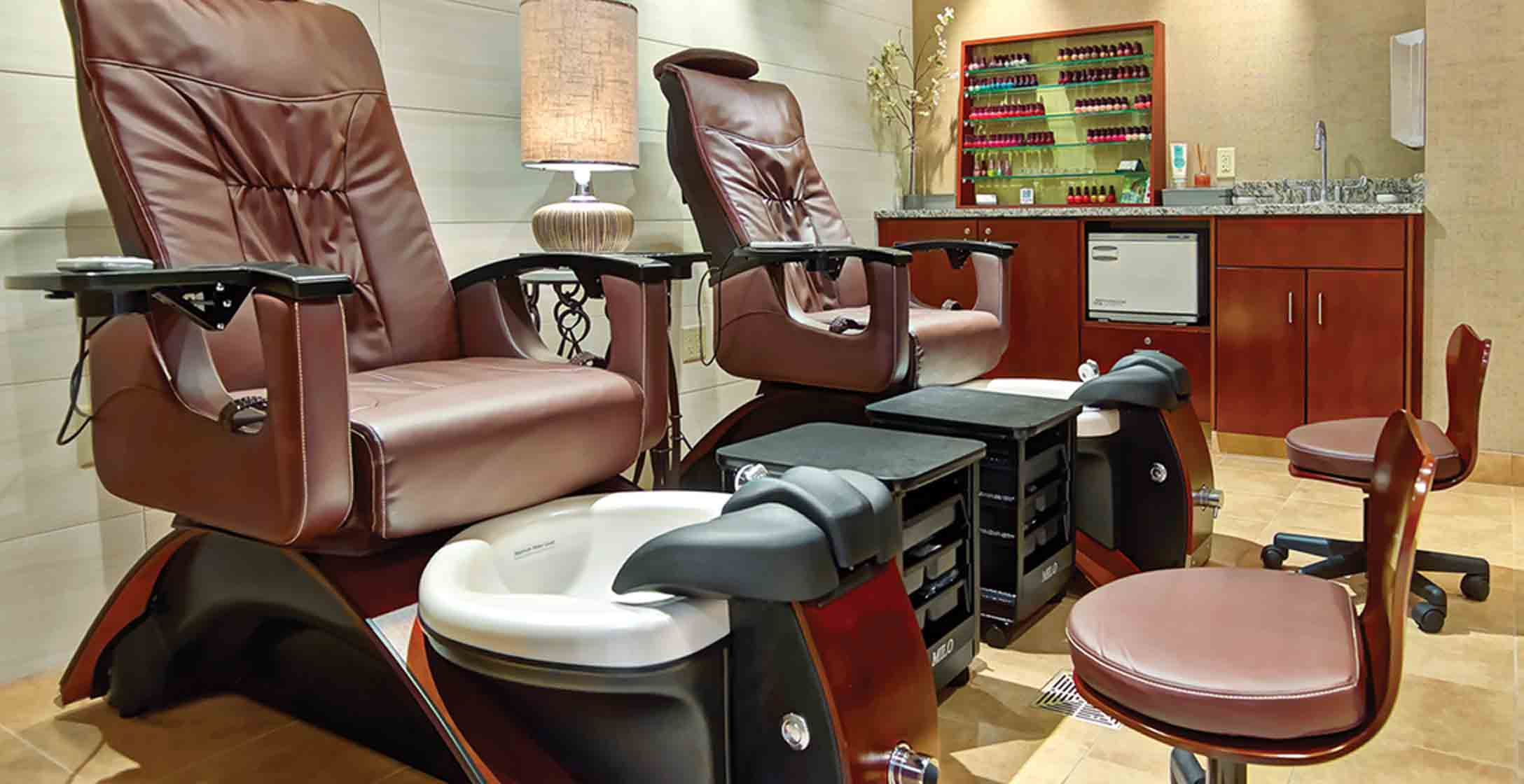 Pedicure chairs at the LifeSpa