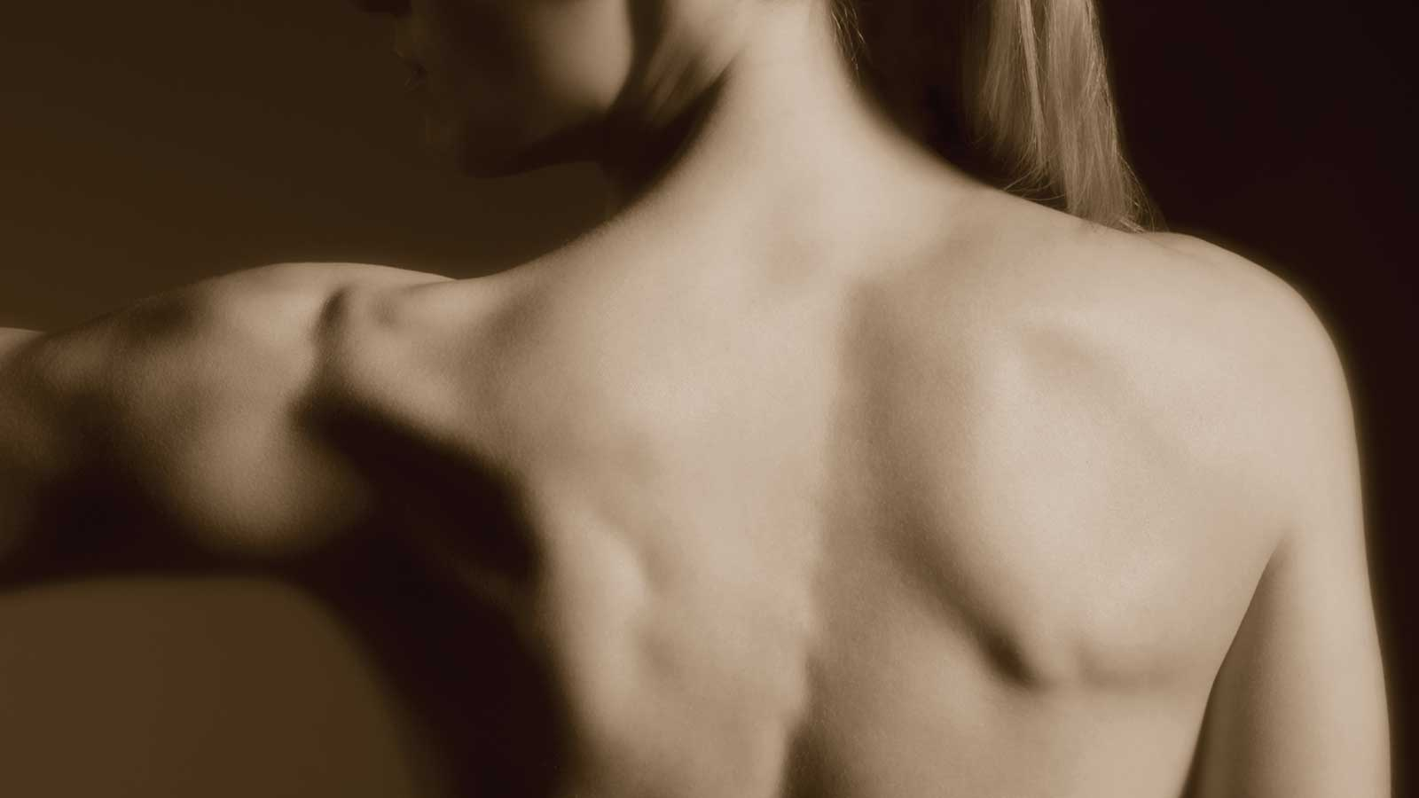 A woman's well-muscled back