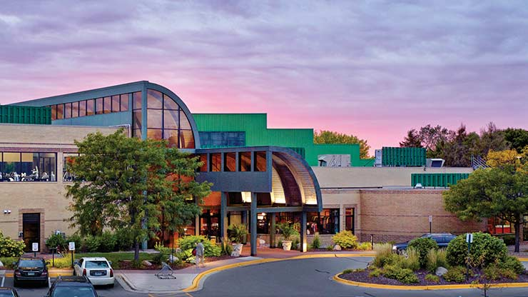 The front of Life Time Athletic, the luxury health club in Eden Prairie, MN