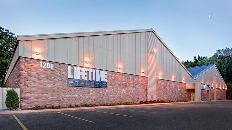 The exterior of Life Time Athletic Oakdale Village Tennis, Minnetonka, MN's best tennis facility