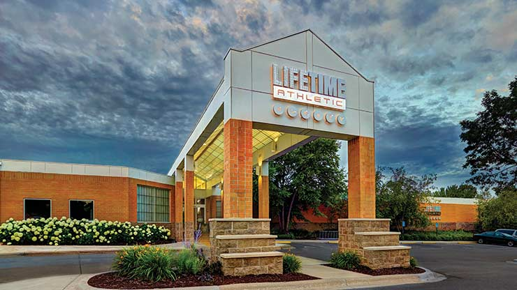 The entrance to Life Time Athletic, the best health club in White Bear Lake, MN