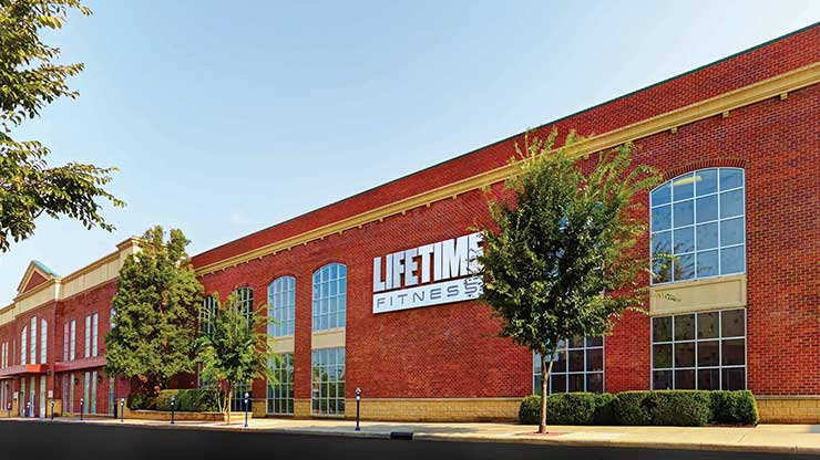 The exterior of the Life Time Fitness club, the premier health club in Easton, OH