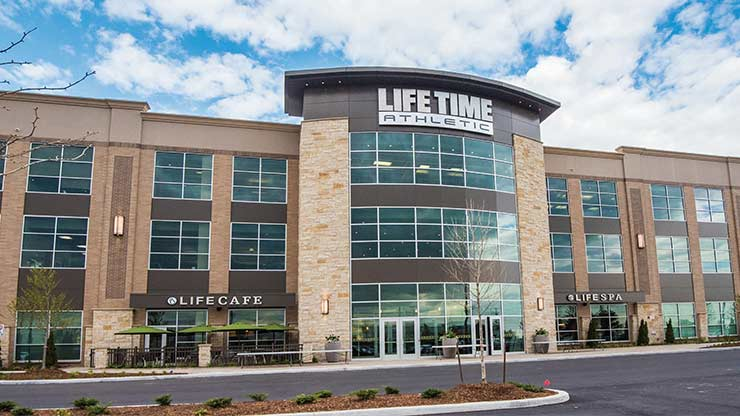 The entrance to Life Time Athletic in Vaughan, ON, a premier fitness club near Toronto