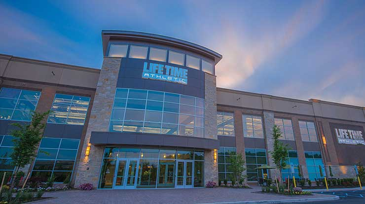 The exterior of Life Time, the best health club & gym in Oklahoma City, OK