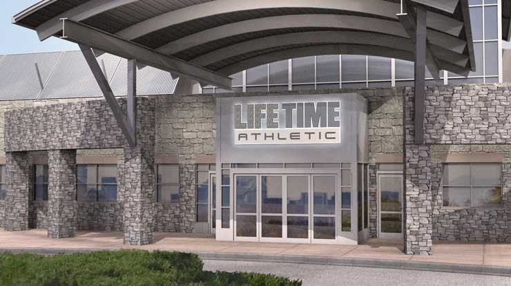 The exterior of Life Time, the best health club & gym in Broomfield, CO