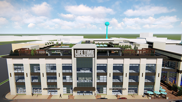 The exterior of Life Time, the best health club & gym in Edina, MN