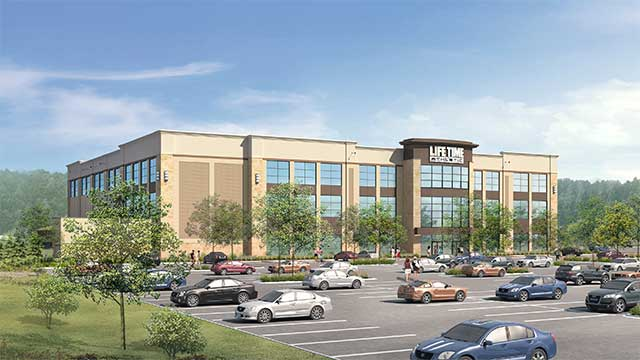 An artist's rendering of the new Life TIme Athletic Burlington