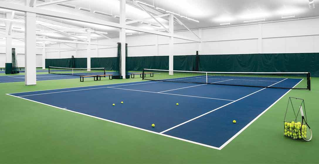 Indoor Tennis Courts at Life Time