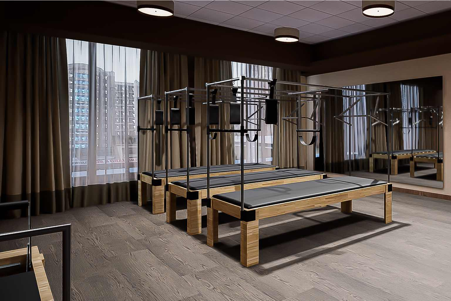 Our dedicated Pilates studio features the very best reformers, chairs, barrels and more.