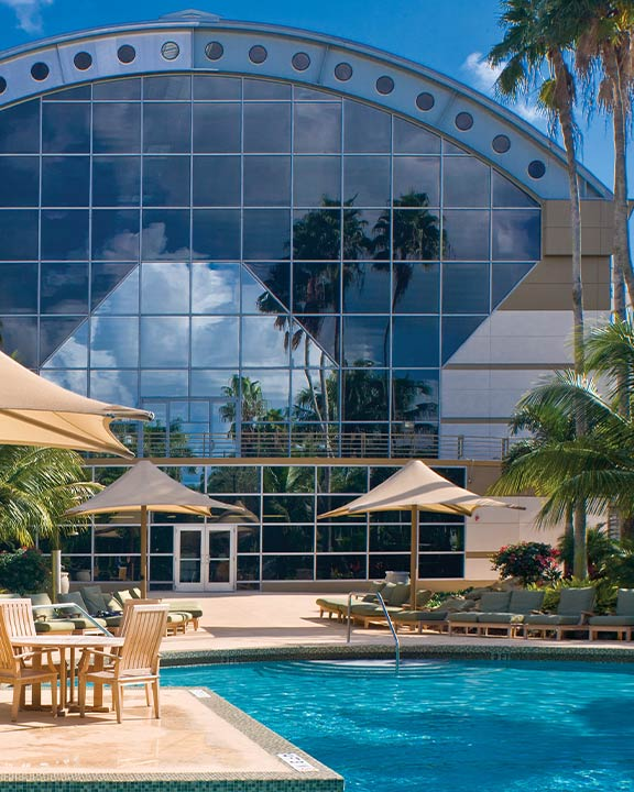 Outdoor pool at Life Time Boca Raton