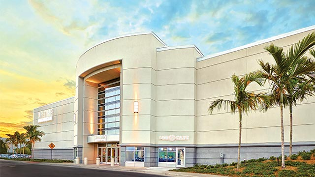 The exterior of the Life Time Athletic and Life Spa in Tampa, FL