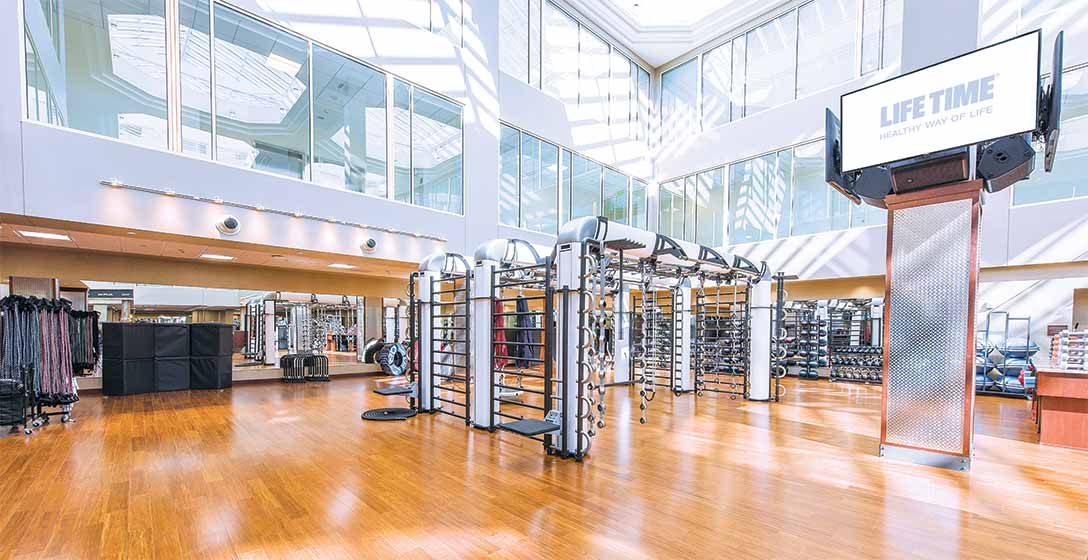 The fitness floor at Life Time Chestnut Hill