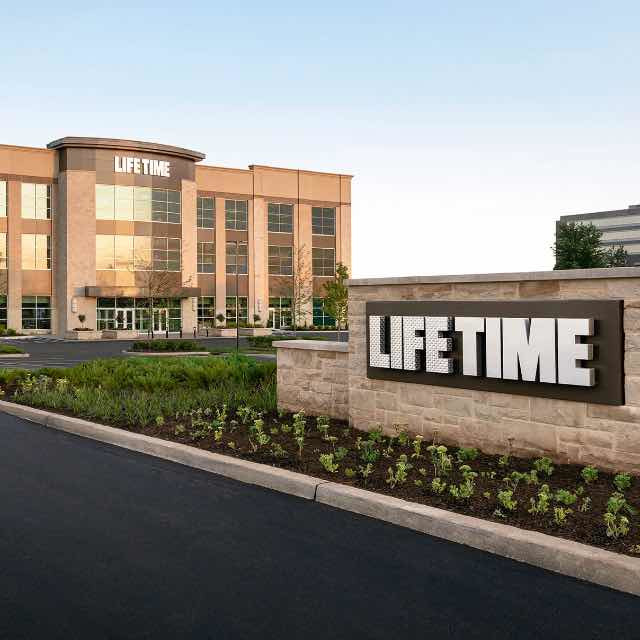 Building exterior at Life Time Bridgewater