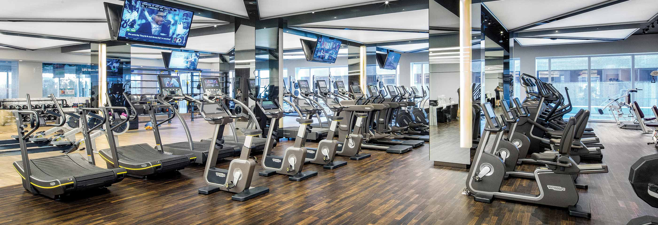 The fitness floor at Life Time Athletic Sky