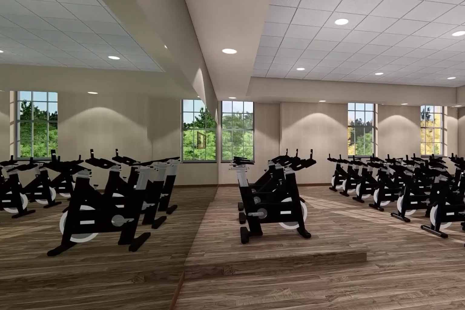 Indoor Cycle room