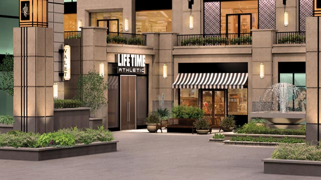 The exterior of Bellevue Life Time Athletic