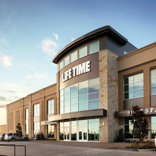 Building exterior at Life Time Brookfield