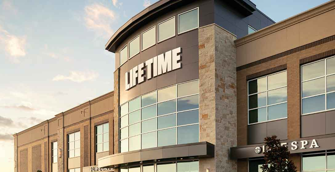 An image of the outside of Life Time Brookfield