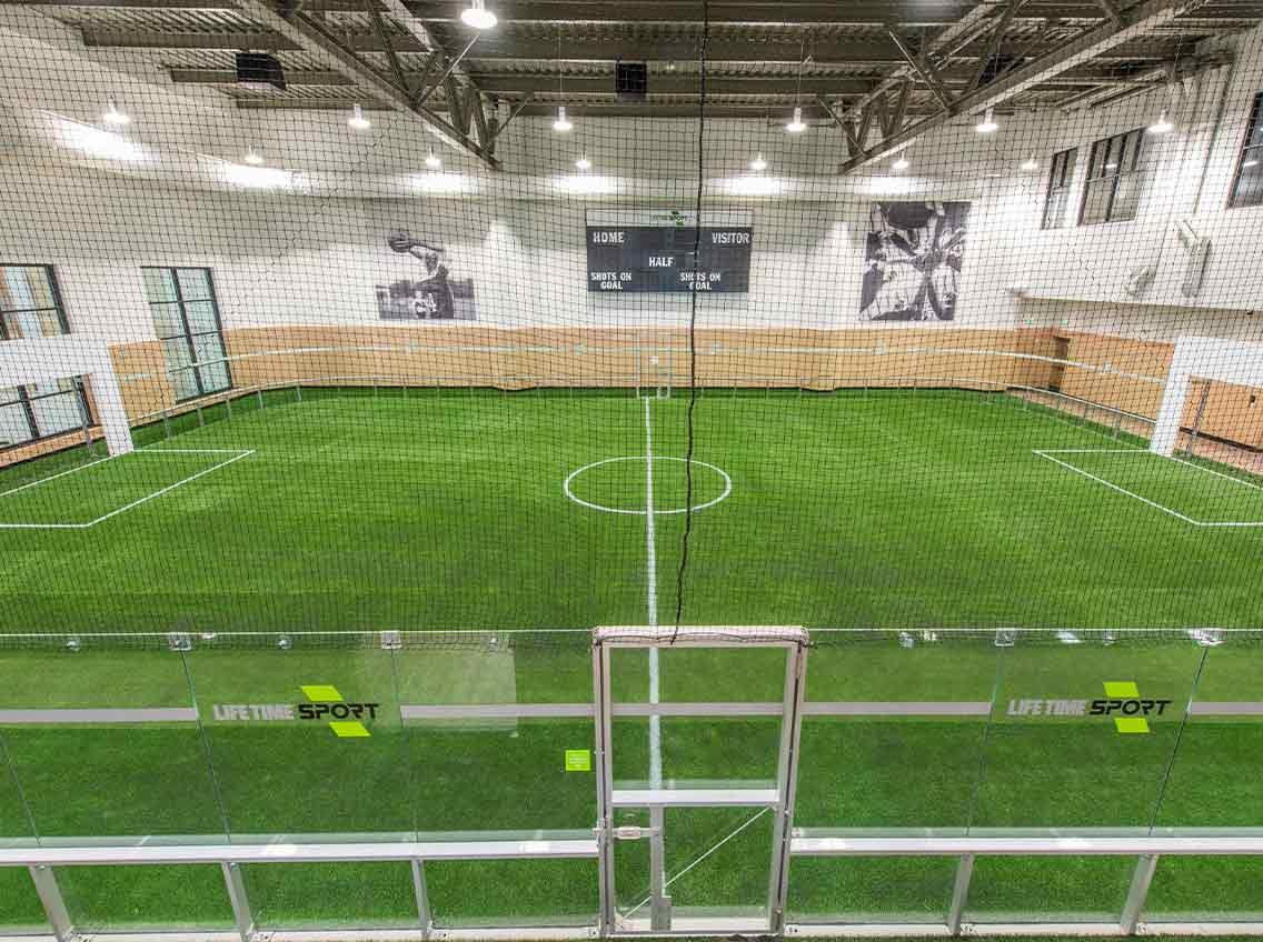 Indoor Soccer Fields at Life Time
