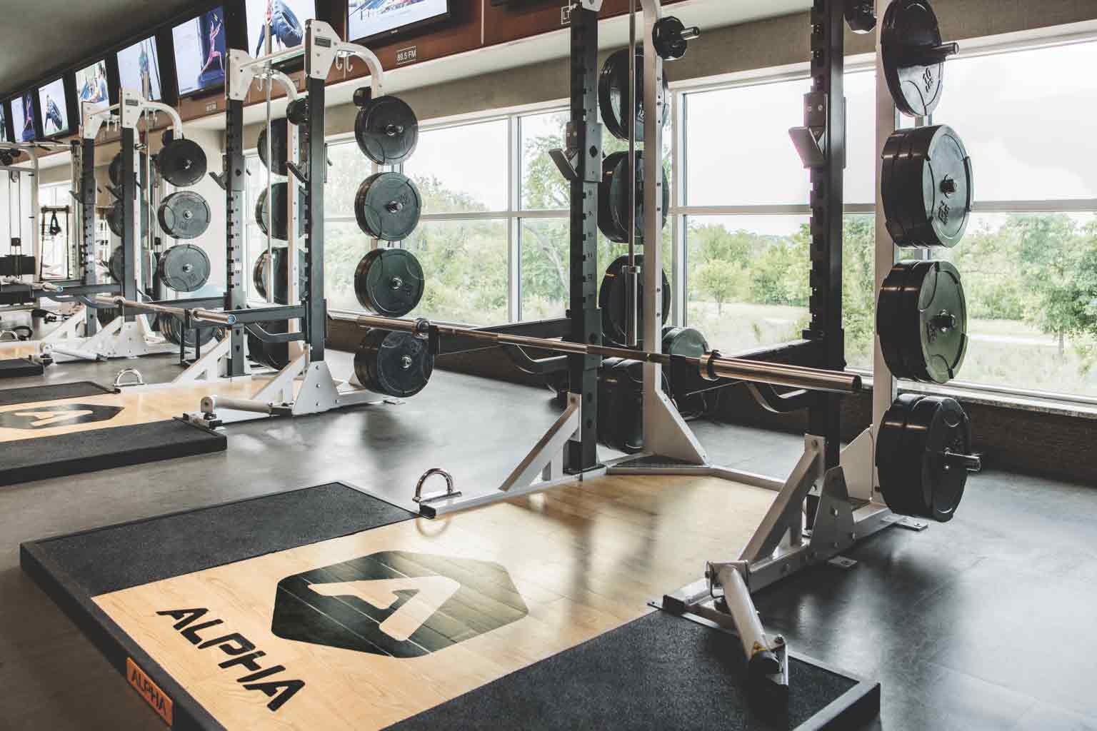 An image of Life Time's Alpha weight lifting stations