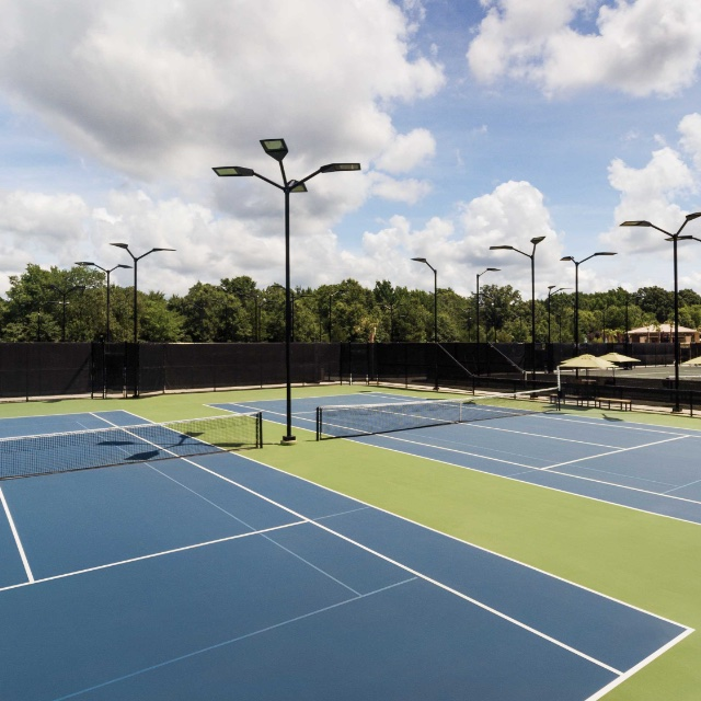 Building exterior at a Life Time Plano Tennis